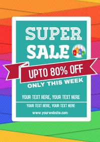 Sale discount flyer template