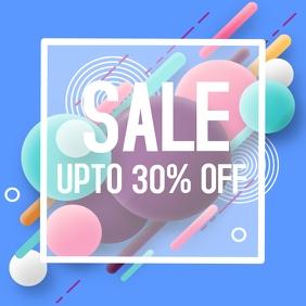 Sale discount instagram flyer
