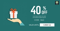 Sale Discount Voucher Reklama na Facebooka template
