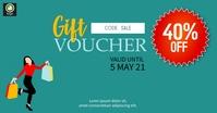 Sale Discount Voucher Facebook Ad template