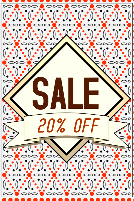 sale discount poster with label