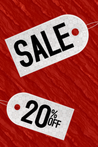 sale discount poster with labels