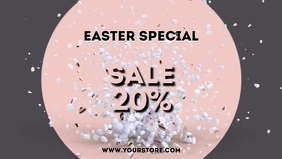 Sale Easter banner Cover Egg Advert video