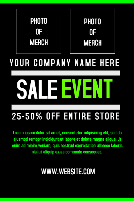 sale event flyer