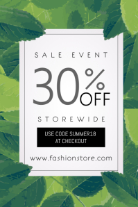 Sale Event Poster Template