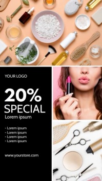 Sale Fashion Beauty Product Price Off story Historia de Instagram template