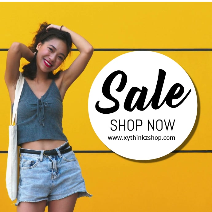 Sale Fashion specials discount advert video square woman