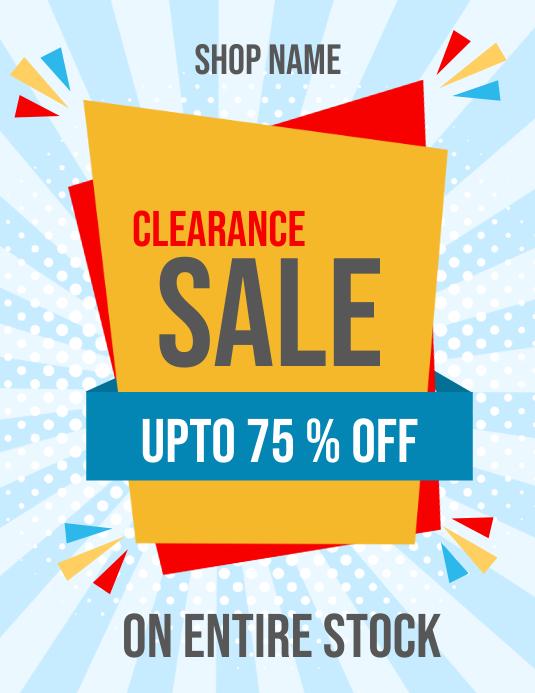 sale flyer, retail flyer, discounts