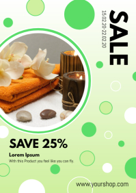 Sale Flyer Advertisement Beauty Spa Green