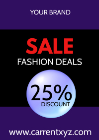 Sale Flyer Fashion Advertising Poster Shop