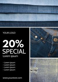 Sale Flyer Fashion Jeans Price Off Din Promo
