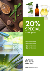 Sale Flyer Beauty Product Price Off Din Promo A4 template