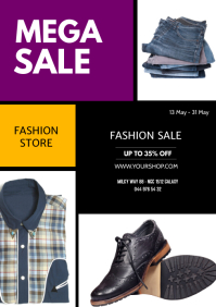 Sale Flyer Fashion Store Shopping Price Off