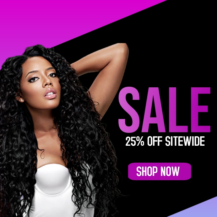 Sale flyer for hair business Pos Instagram template