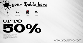 Sale flyer retail clothing template advert fa