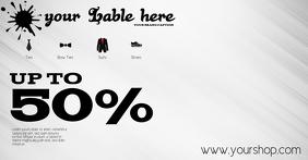 Sale flyer retail clothing template advert fa Obraz udostępniany na Facebooku