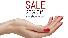 Sale Google+ Cover Image template