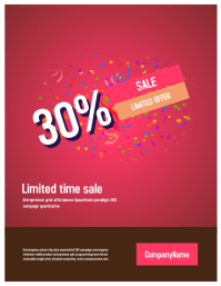 Sale poster flyer