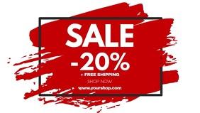 Sale Frame Discount Price Off brush stroke ad