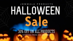 Sale Halloween Facebook Cover Video