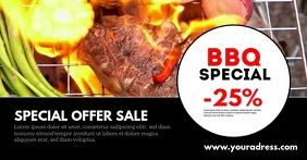 Sale Header Banner Template Barbecue bbq Ad Imagen Compartida en Facebook