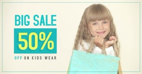 Sale - Kid's Wear Facebook-Anzeige template