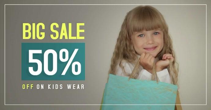 Sale - Kid's Wear Facebook-advertentie template