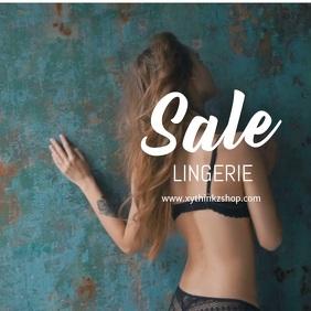 Sale Lingerie Fashion specials discount advert square woman
