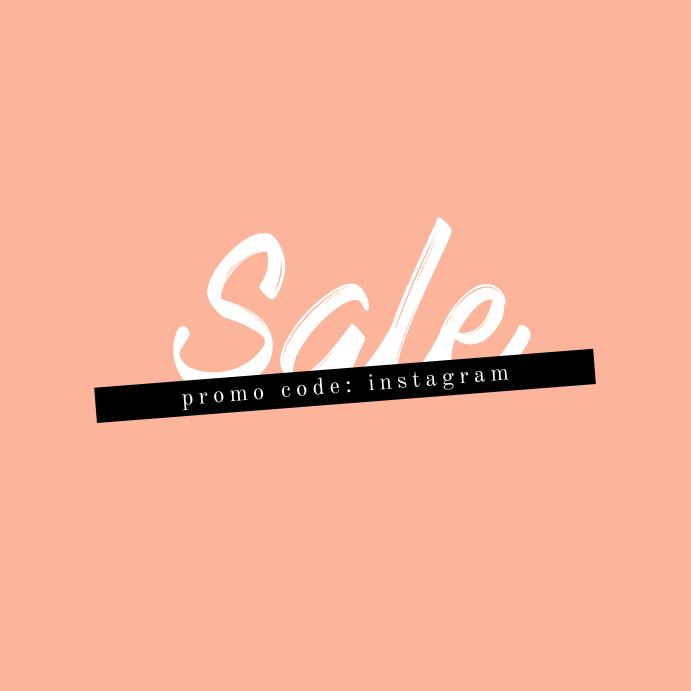 Sale Minimal Pink Instagram Square Banner