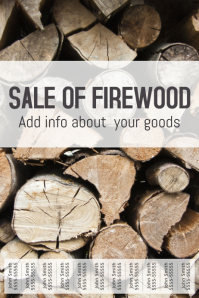 Sale of Firewood poster template with tabs