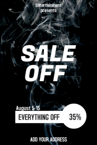 Sale off flyer template