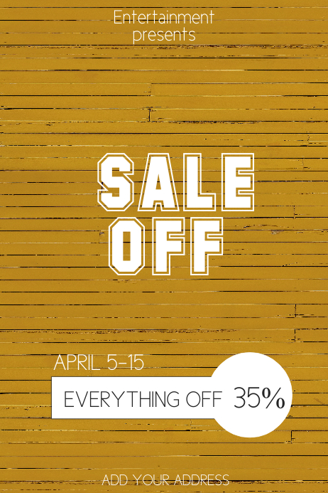 Sale off retail flyer template