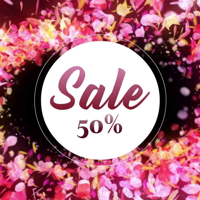 Sale Offer Advert promo square Video Flowers Bloom Flying