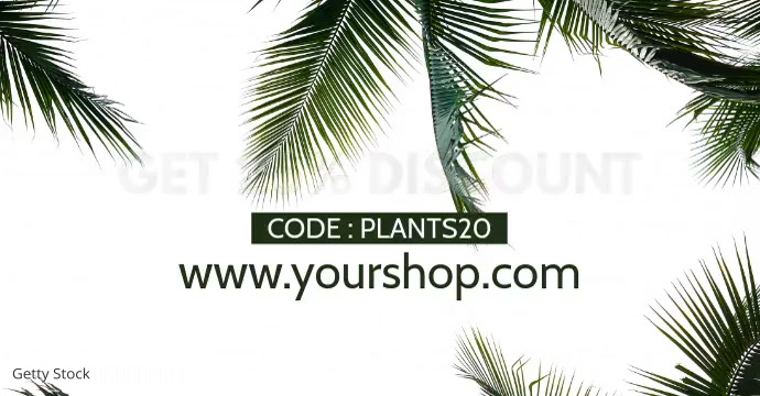 Sale Plants Advert Template Discount % Iklan Facebook