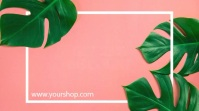Sale Plants Advert Template Discount % Digital na Display (16:9)