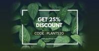 Sale Plants Advert Template Discount % Anuncio de Facebook