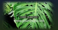 Sale Plants Advert Template Discount % Рекламное объявление Facebook