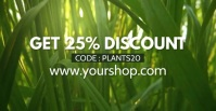 Sale Plants Advert Template Discount % Anuncio de Facebook