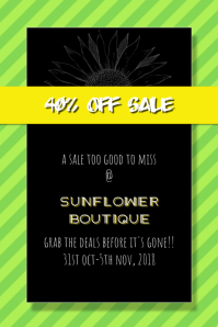 Sale Poster Contemporary Style