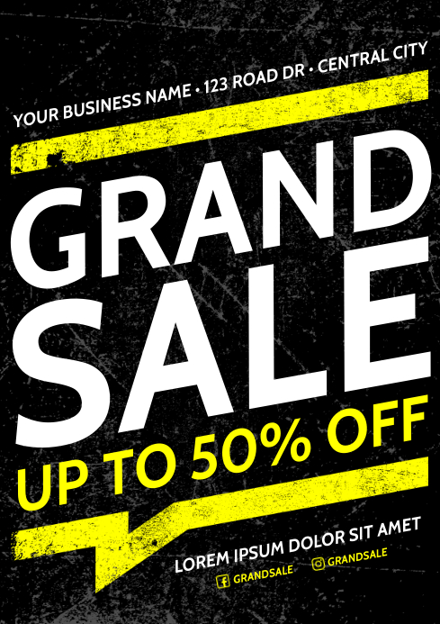 SALE POSTER A4 template