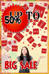 Sale poster for retail businesses - Theme: autumn sale event