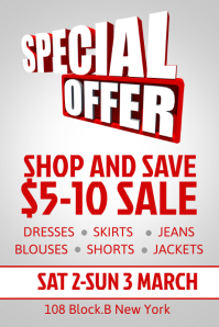 Nice Sale Poster Template  For Sale Poster Template