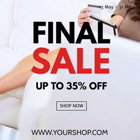Sale Promo Video Square Shopping Online Ad