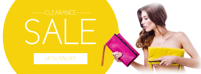 Sale Retail Fashion Facebook Cover Template