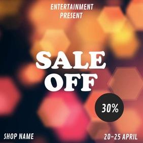 Sale retail flyer template