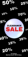 Sale Roll up Banner Deals Services Offer Ad