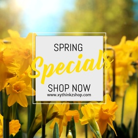 sale Spring specials discount advert video square flowers