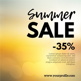 Sale Summer Special Deal % Price Off Advert Persegi (1:1) template