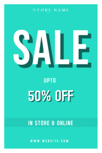 SALE TEMPLATE FOR STORES Poster