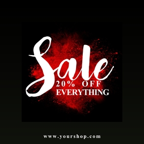 sale template shop online advert instagram